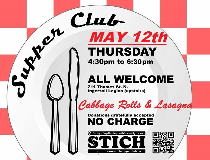 Supper Club CABBAGE ROLLS-LASAGNA-MAY 12