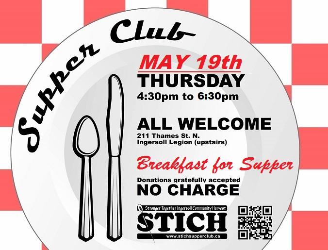 Supper Club MAY 19 BREAKFAST