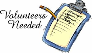 please sign up to volunteer stich
